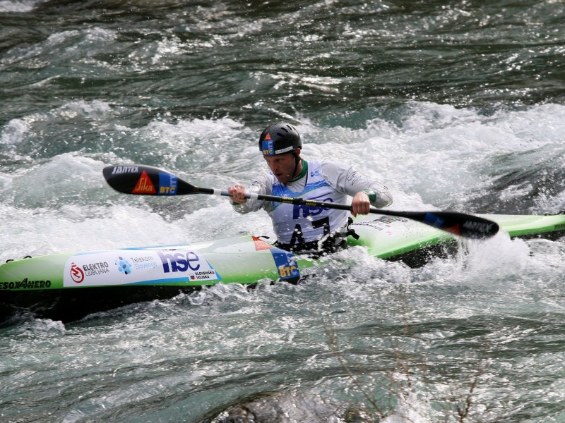 Multiple World Champion Nejc Žnidarčič takes the win at the second ECA Wildwater Sprint Canoeing European Cup in 2018