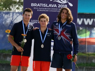 Gold and bronze medal for Tom Dolle at Canoe Freestyle European Championships in Bratislava