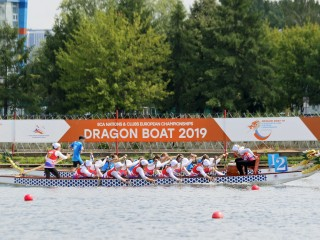 Russia dominated opening day of the 2019 ECA Dragon Boat Nations and Clubs European Championships ...
